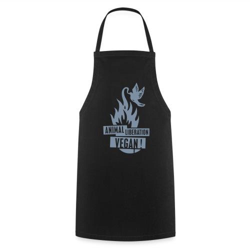 Kochschürze Animal Liberation Vegan - Silver - Kochschürze