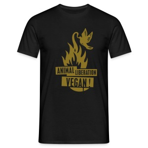 Mens Shirt 'animal liberation vegan' GOLD - Männer T-Shirt