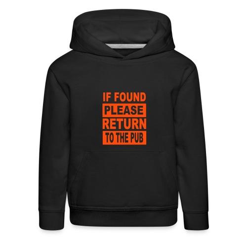 Kids' Premium Hoodie - uk,pub,police,parents,lost,kids,hoodie,found,drinking,child