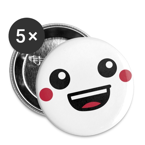 smiley button 32 mm 5 PACK - Buttons medium 32 mm