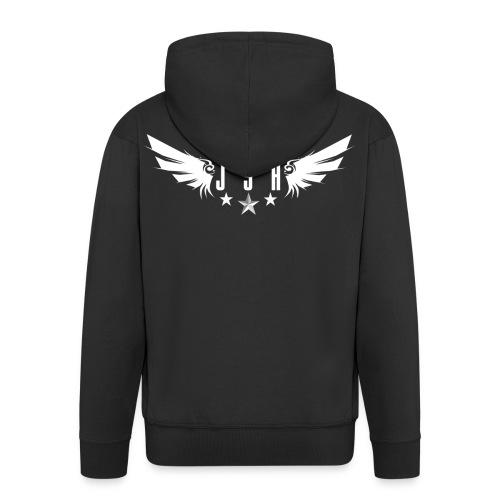 JSH Logo #1-w - Men's Premium Hooded Jacket