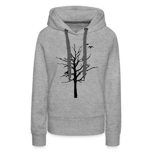 Baum Schattenriss (Pullover) - Frauen Premium Hoodie