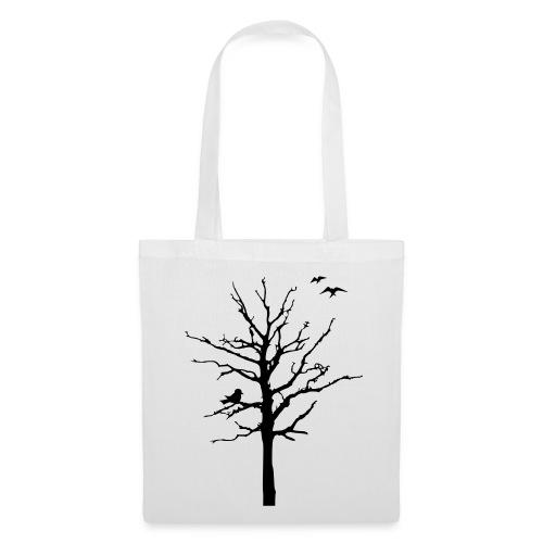 Baum Schattenriss (Stofftasche) - Stoffbeutel