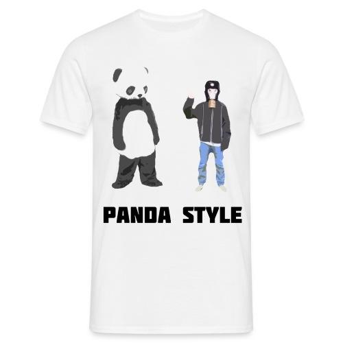 Panda og Gasmaskedreng t-shirt - Panda Style (Mand) - Herre-T-shirt