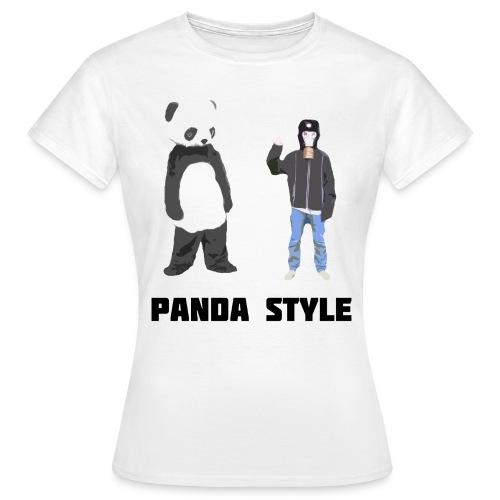 Panda og Gasmaskedreng t-shirt - Panda Style (Dame) - Dame-T-shirt