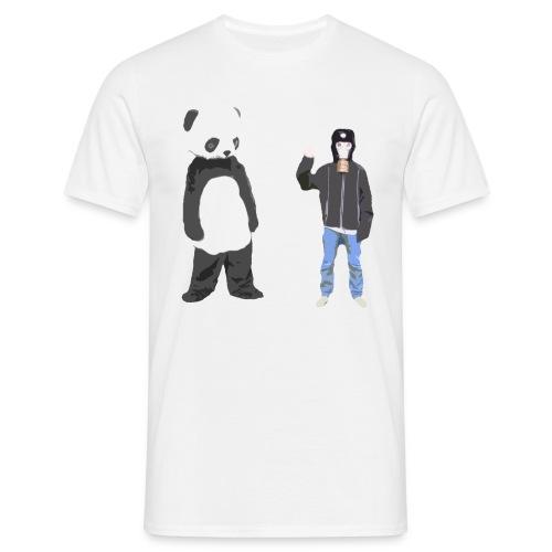 Panda og Gasmaskedreng t-shirt - Uden Text (Mand) - Herre-T-shirt