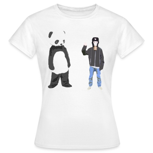 Panda og Gasmaskedreng t-shirt - Uden Text (Dame) - Dame-T-shirt