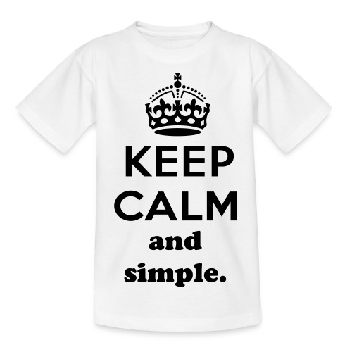 Keep calm and simple T-Shirt male - Teenage T-shirt