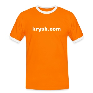 krysh orange tee - Männer Kontrast-T-Shirt