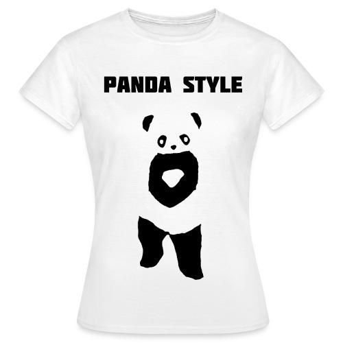 Panda t-shirt - Panda Style (Dame) - Dame-T-shirt