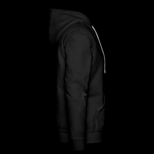 Støttemedlems hættetrøje, Herremodel, sort