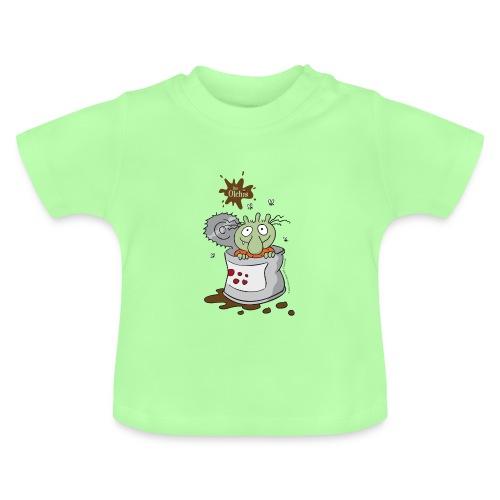 Baby T-Shirt - Ein offizielles Olchi - T-Shirt. Die Olchis vom Oetinger Verlag. Weitere tolle T-Shirts, Langarmshirts und Pullover von den Olchis aus Schmuddelfing und ihrem Drachen Feuerstuhl findet ihr im Olchis T-Shirt-Shop.