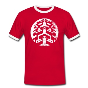 Duotoon shirt met Grunge logo - Mannen contrastshirt