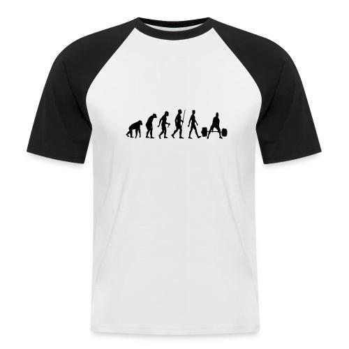Bodybuilder Evolution - Men's Baseball T-Shirt