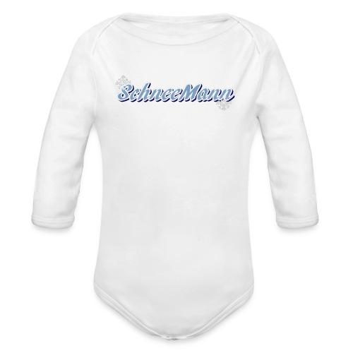 Schneemann - Baby Bio-Langarm-Body