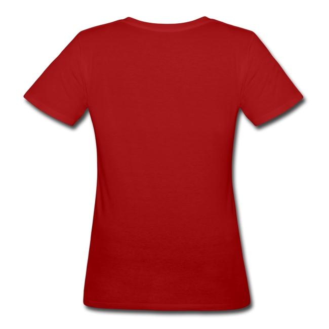 Vrouwen Shirt lila, zwart, zilveren opdruk