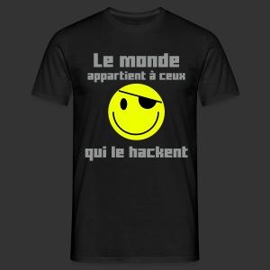Le monde appartient aux hackeurs - T-shirt Homme