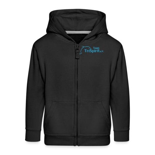 Leni Sweatjacke blaues Logo - Kinder Premium Kapuzenjacke