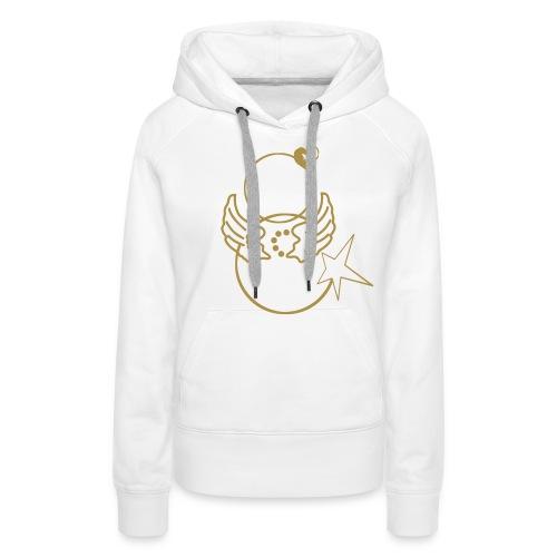 Hype Life Or paillette - Sweat-shirt à capuche Premium pour femmes