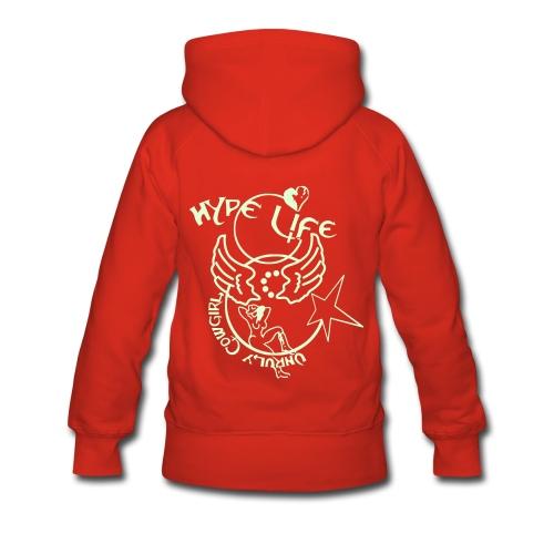 Hype Life fluO - Sweat-shirt à capuche Premium pour femmes