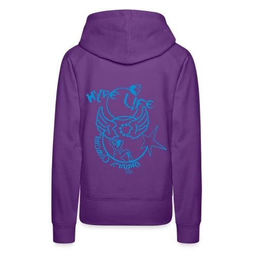 Hype Life bleu - Sweat-shirt à capuche Premium pour femmes