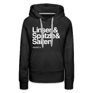 Pullover & Hoodies ~ Frauen Kapuzenpullover ~ Linsa Hoodie Girls Black