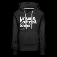Pullover & Hoodies ~ Frauen Premium Kapuzenpullover ~ Linsa Hoodie Girls Black