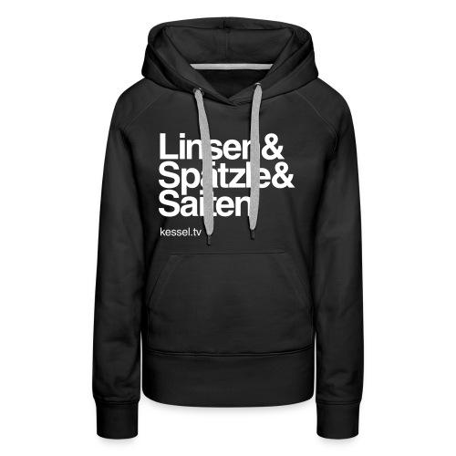 Linsa Hoodie Girls Black - Frauen Premium Hoodie