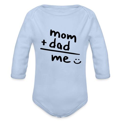 mam + dad = me - Baby bio-rompertje met lange mouwen