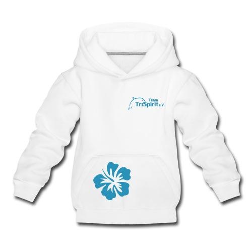 Leni Blumen Pullover blaues Logo - Kinder Premium Hoodie