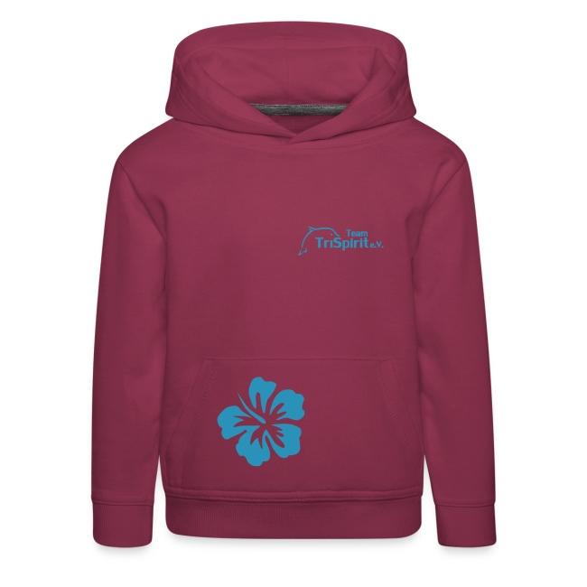 Leni Blumen Pullover blaues Logo