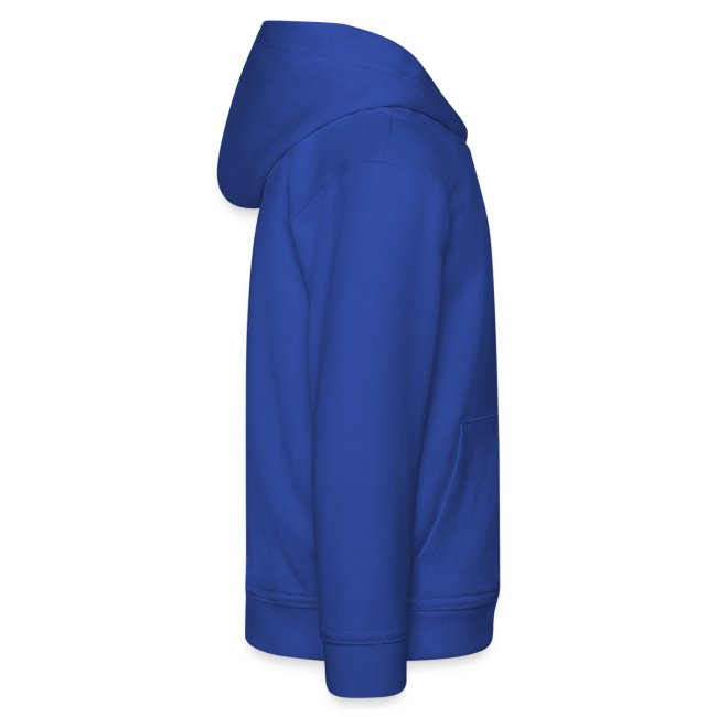 Leana special Blumen Pullover blaues Logo