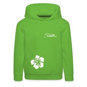 Leni Blumen Pullover weisses Logo - Kinder Premium Hoodie