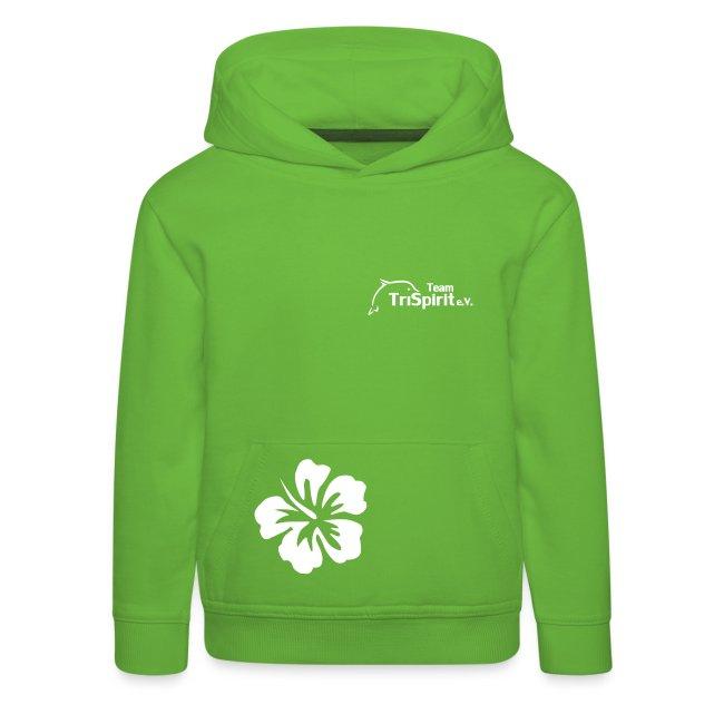 Leni Blumen Pullover weisses Logo