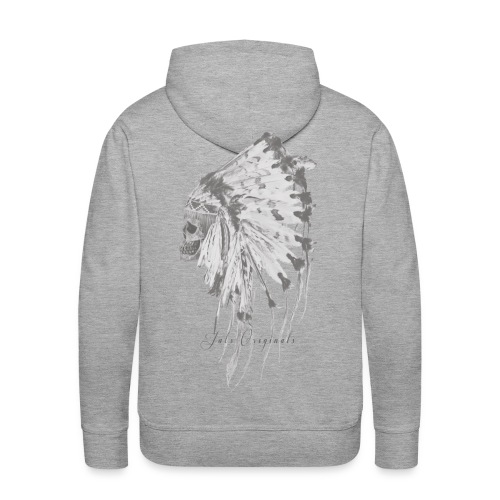 Sweat-shirt Indian's skull Jats - Sweat-shirt à capuche Premium pour hommes