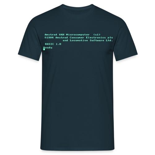Amstrad CPC464 azul - Camiseta hombre
