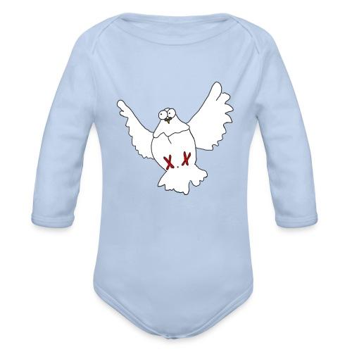 BabyBody Friedenstaube - Baby Bio-Langarm-Body