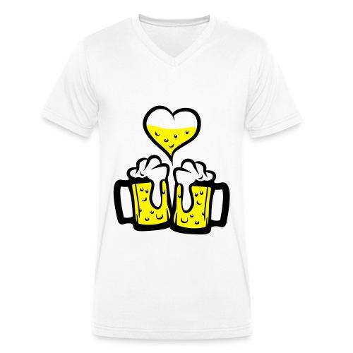 Tee Shirt col-v. Beer of love (Hommes) - T-shirt bio col V Stanley & Stella Homme