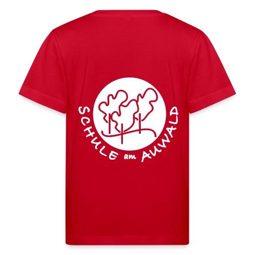 T-Shirt Bio mit Logo hinten weiß - Kinder Bio-T-Shirt