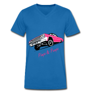 T-shirts ~ Mannen T-shirt met V-hals ~ Men's slim fit shirt  - Pimpz & Pumpz - Car
