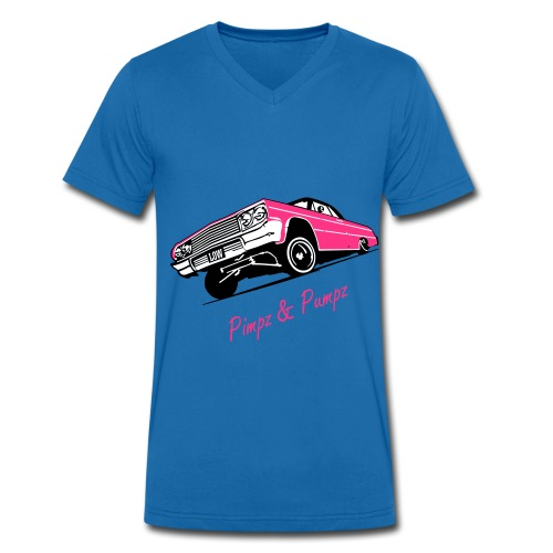 Men's slim fit shirt  - Pimpz & Pumpz - Car - Mannen bio T-shirt met V-hals van Stanley & Stella