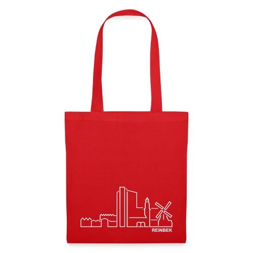 Tasche mit der Skyline von Reinbek. - Stoffbeutel