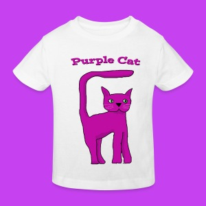 Purple Cat T shirt - Kids' Organic T-shirt