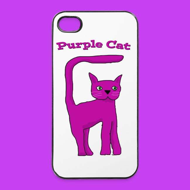 Purple Cat metal iPhone 4 cover