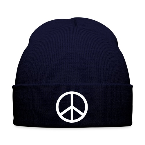 Winter Hat - Original Navy Peace Beanie from Galaxy Clothing