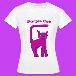 Purple Cat Ladies T Shirt - Women's T-Shirt