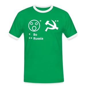 Boah-Russia MG Edition - Männer Kontrast-T-Shirt
