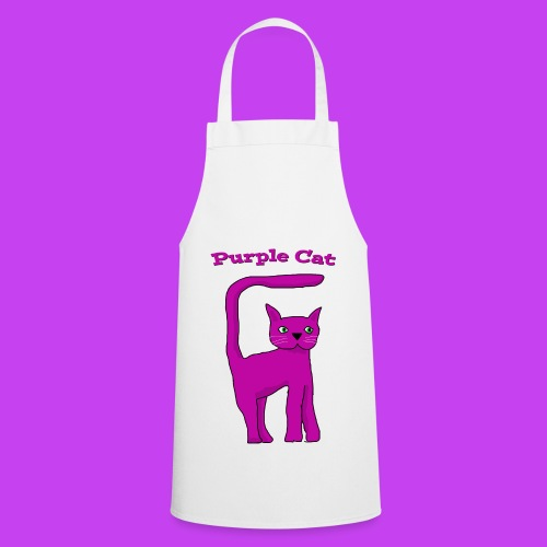 Purple Cat Apron - Cooking Apron