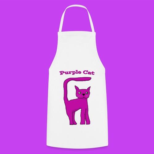 Purple Cat Apron - Cooking Apron