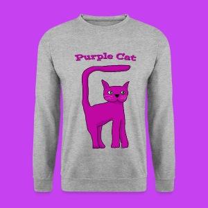 Purple Cat Sweat - Men's Sweatshirt